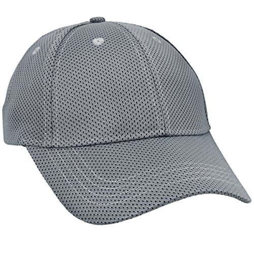 moonsix Unisex Baseball Cap,Lightweight Breathable Running Quick Dry Sport Hat,Style 2 Grey