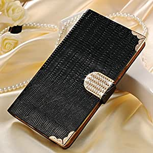 10 pcs/lot Wallet style Bling PU Leather Case For Samsung Galaxy Note 4 Shining Phone Bag Rhinestone Flip Cover Wholesale --- Color:Blue