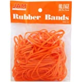 JAM Paper Rubber Bands - #33 Size - Orange Rubberbands - 100/pack