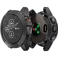 KPYJA Compatible with Garmin fēnix 5X/5X Plus Case, Soft TPU Slim Protective Bumper Cover Saver Shell for Garmin fēnix 5X/5X Plus Smartwatch (Black)