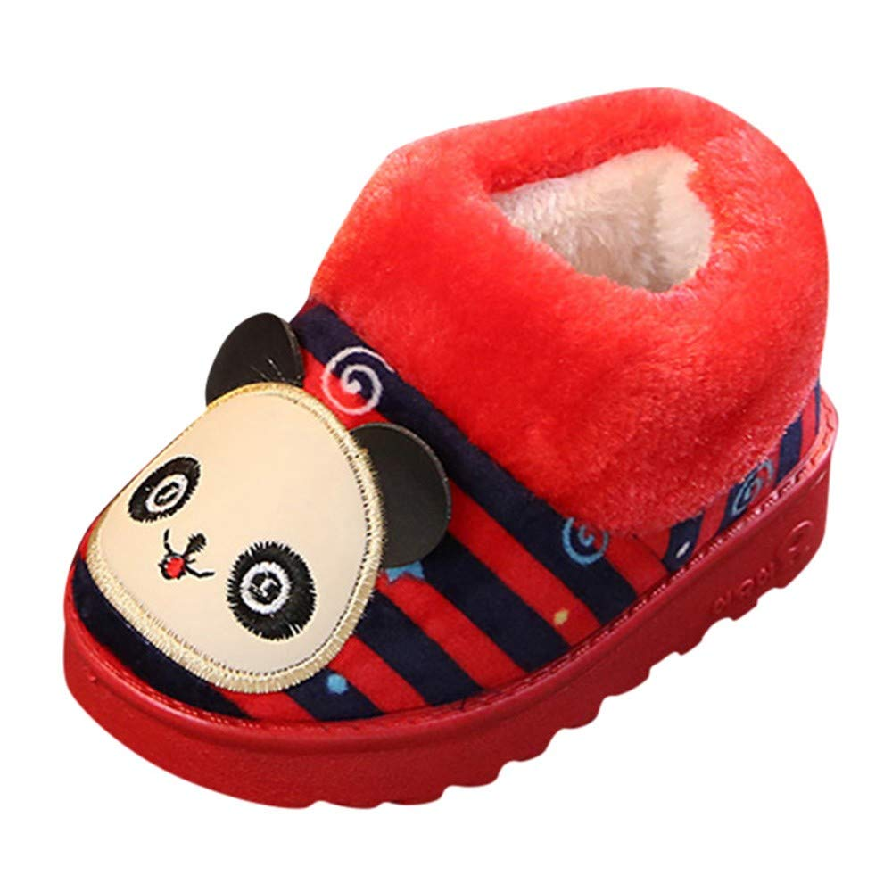 Vovotrade Winter Soft Warm Cute Baby Boys Girls Striped Shoes Indoors Slipper Home Boots