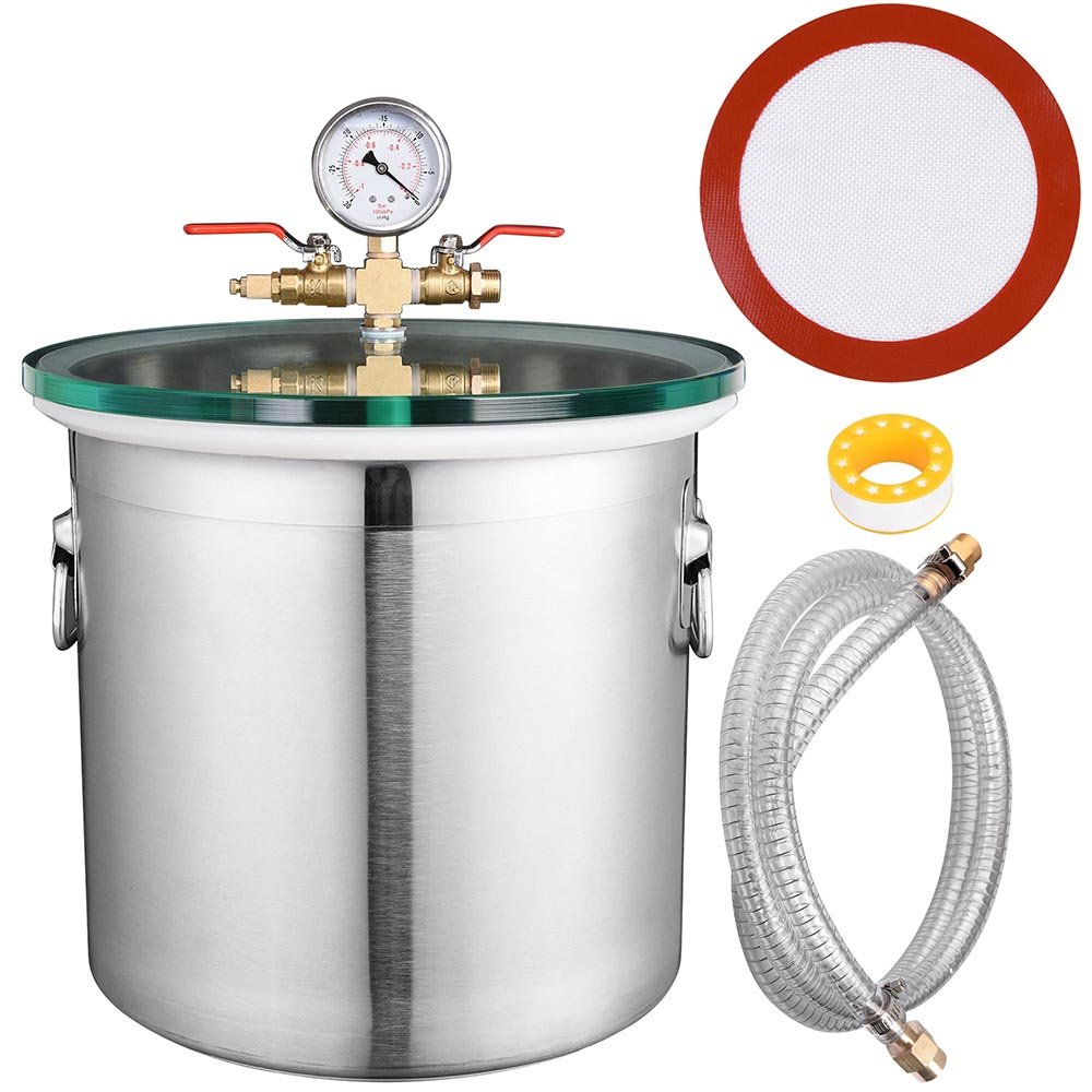 Yescom 5 Gallon Stainless Steel Vacuum Chamber kit to Degass Urethanes Silicones Epoxies by Yescom