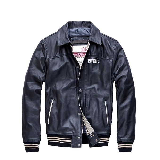 Cordon Sport Herren Leder Jacke Victoria schwarz fällt etwas kleiner aus