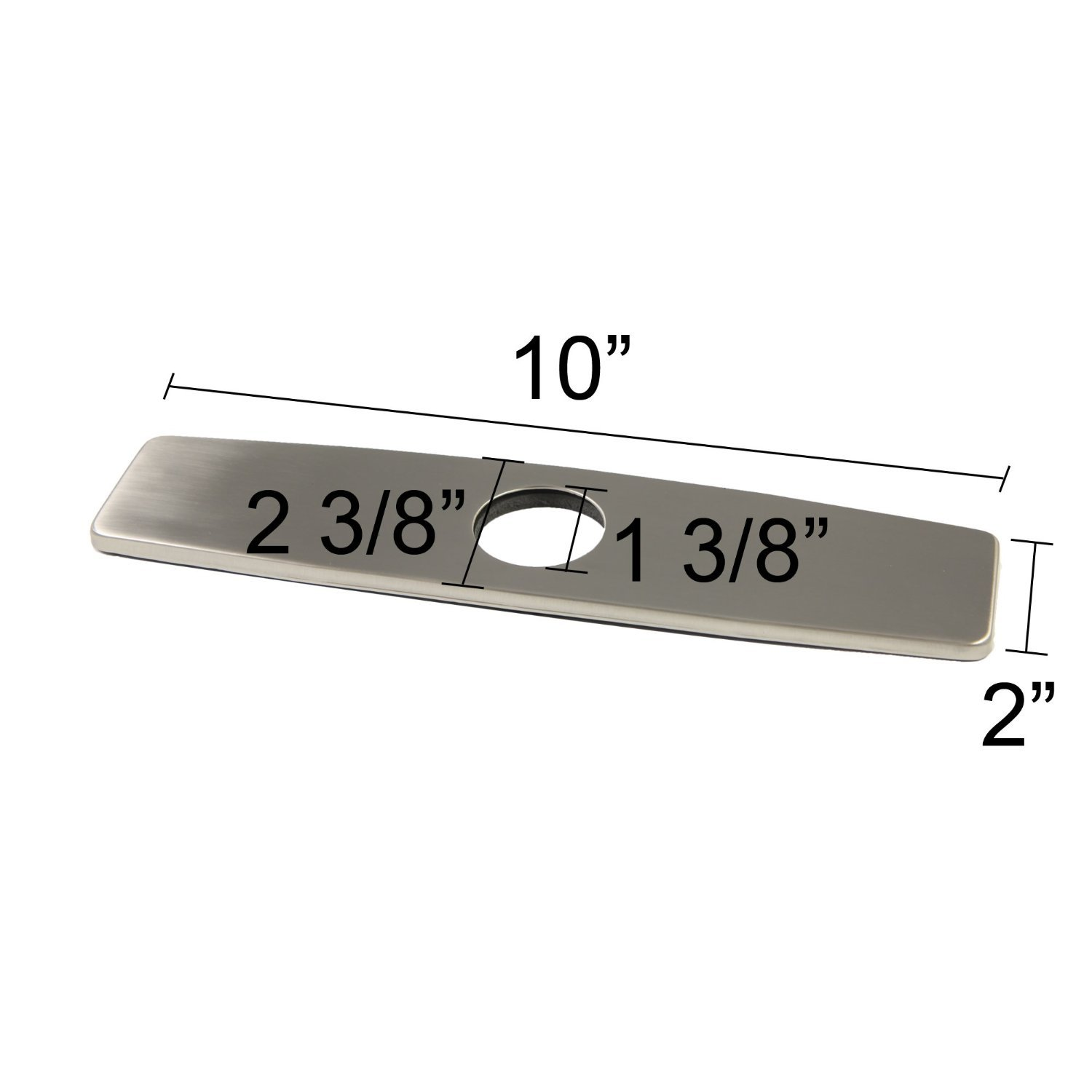 Luxice 10'' Kitchen and Bathroom Sink Faucet Hole Cover Deck Plate Escutcheon Brushed Nickel