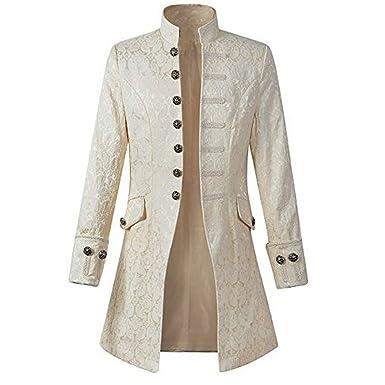 0c62b62c466 Blouson Homme Hiver Manteau Impression Habit Veste Redingote Gothique  Costume Uniforme Hommes Praty Outwear (2XL