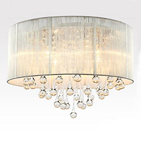 Aiwen Continental Modern Sliver Lamp Shade Droplets Shape ...