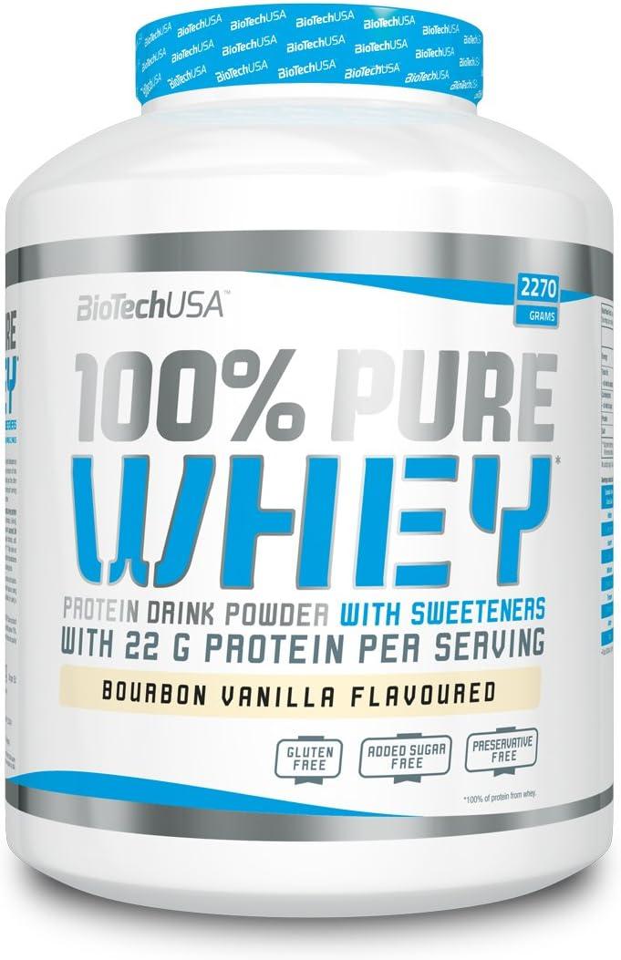 Biotech 100% Pure Whey Proteínas Caramelo y Capuccino - 2270 gr