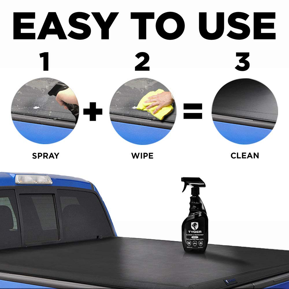 Tyger Auto TG-CP8U3228 Tyger Tonneau Cover Cleaner & Protectant 2-in-1 Spray Specialized for Leather and Vinyl Surfaces, 22 Fl. oz. Made in USA, by Tyger Auto (Image #2)