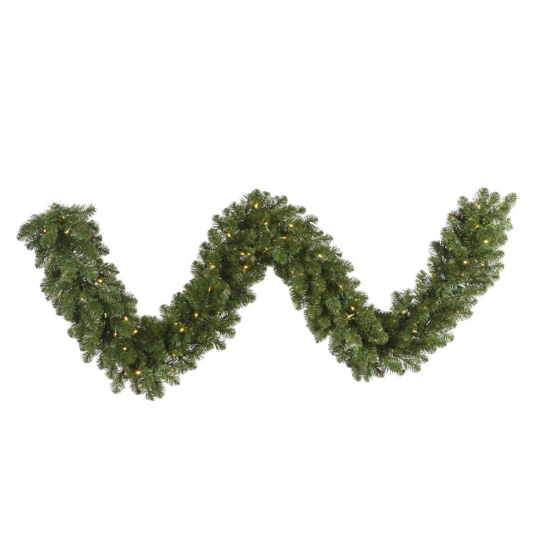 Vickerman 25' x 18'' Pre-Lit Grand Teton Commercial Length Artificial Christmas Garland - Clear Dura-Lit Lights