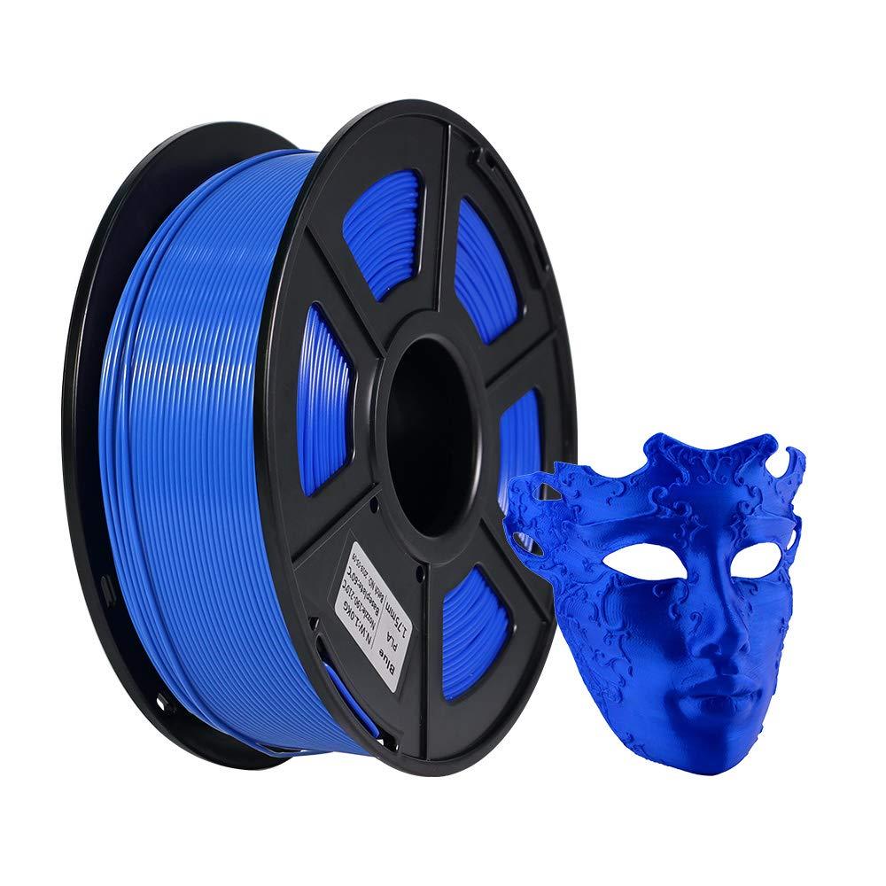 Blue JGAURORA PLA 3D Printer Filament 1.75mm Filament 1kg Spool White