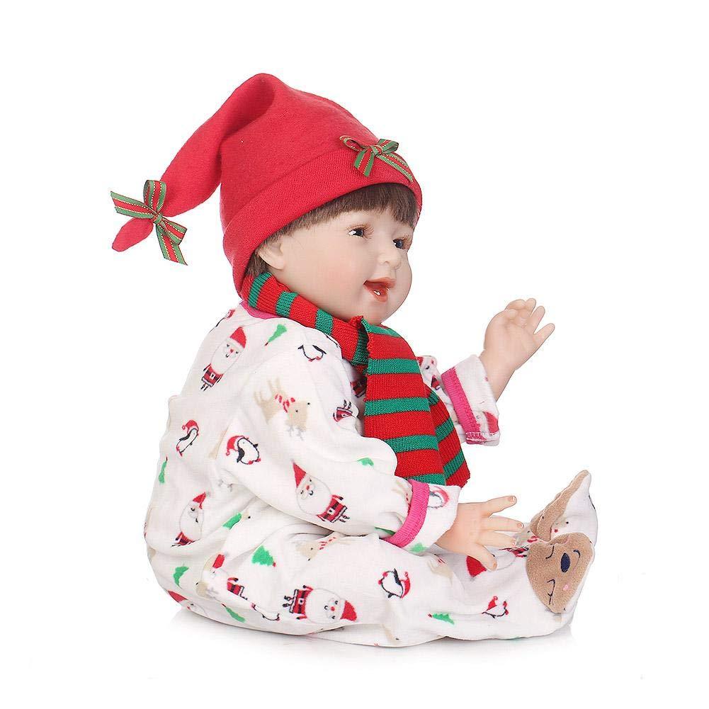 iShinè_Toy 55 cm Belle Reborn Simulation bebé muñeca réaliste Juguetes muñecas Reborn accompagnant para niños educación précoce Regalo de cumpleaños muñeca de Navidad