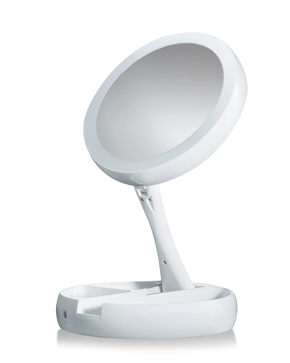 My Fold-Away Deluxe Large, Distortion-free, LED-illuminated and Two-sided Mirror As Seen On TV Emson