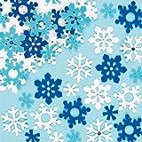 Pegatinas de fieltro en forma de copos de nieve para decorar tarjetas, manualidades y collages navideños infantiles (pack de 78)