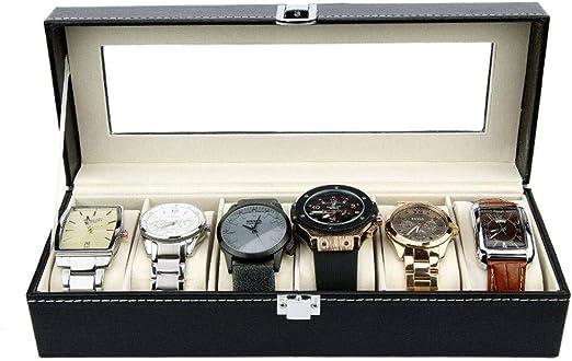 GOVD Caja Relojes Mujer PU Cuero Caja Joyero para almacenar Relojes para Relojes: Amazon.es: Hogar