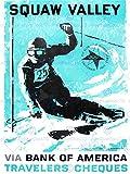 SPORT ADVERT 1960 WINTER OLYMPIC GAMES SQUAW VALLEY USA SKI ART PRINT CC1857