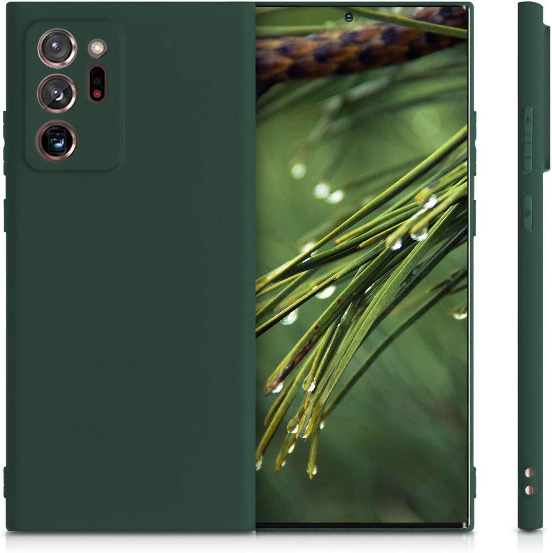 Protector Trasero en Negro Mate Carcasa de TPU Silicona kwmobile Funda Compatible con Samsung Galaxy Note 20 Ultra