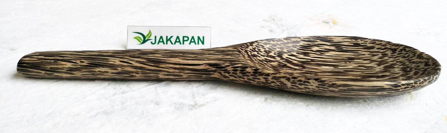 Jakapan Natural Wooden Rice Spoon, Wooden Rice Paddle, Rice Serving Spoon, Cooking Spoon,Product from Thailand. (Palm)