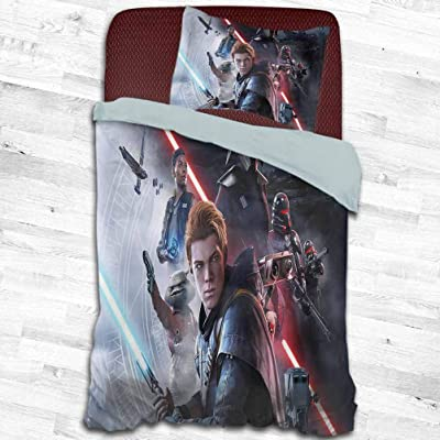HeKua Duvet Cover Set Twin Size (68x90 inch) Star Wars Jedi Fallen Order 6v Comforter Quilt Bedding Cover with Zipper Closure: Home & Kitchen