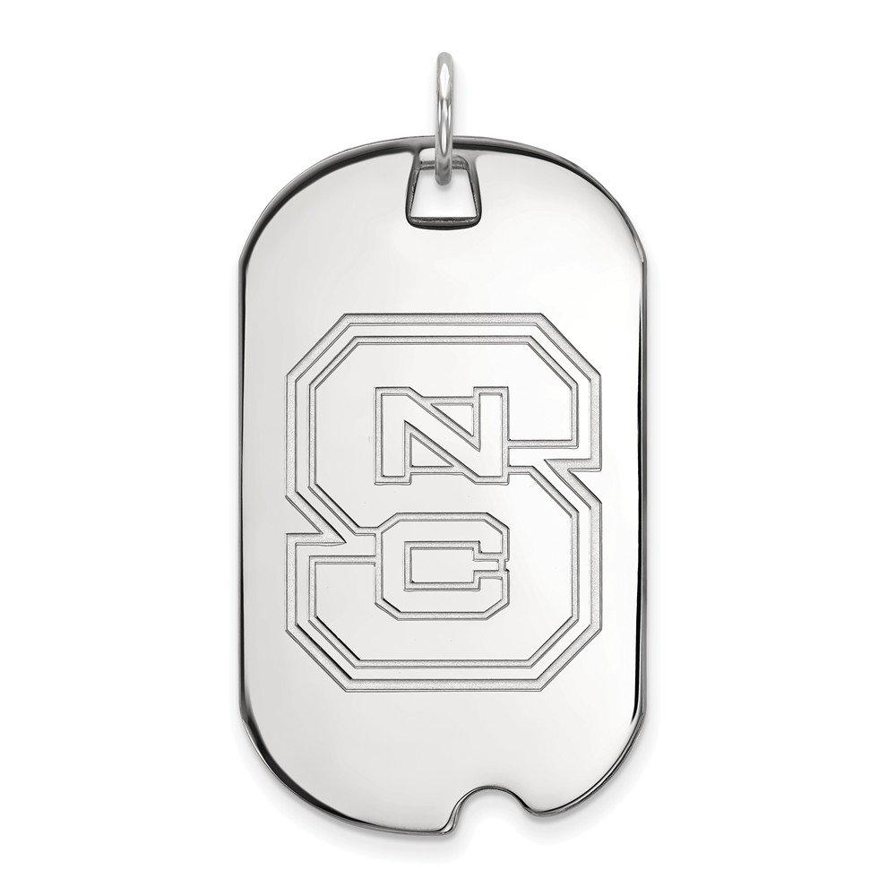 Collegiate North Carolina State University Sterling Silver LogoArt North Carolina State University Large Dog Tag