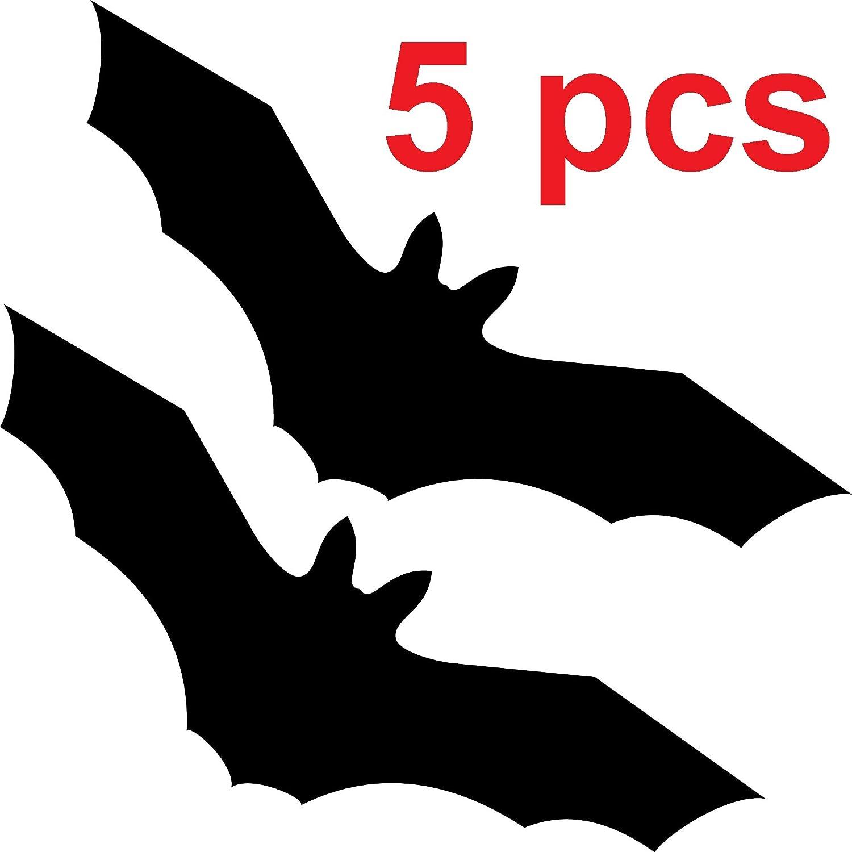 GreenIT Lot de 5/Noir 20/cm Oiseaux chauve-souris autocollants pour les fen/êtres Cut Tattoo Oiseaux dalerte protection film d/écoratif