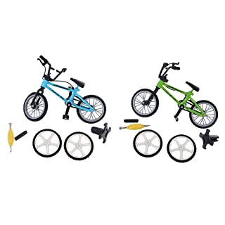 D DOLITY Model Finger Bike Bicycle with Spare Tires Metal Toys for Children Kids Boys