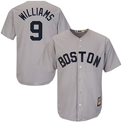 check out 497b5 6332f Majestic Athletic Men's Boston Red Sox Ted Williams Cooperstown Jersey Small