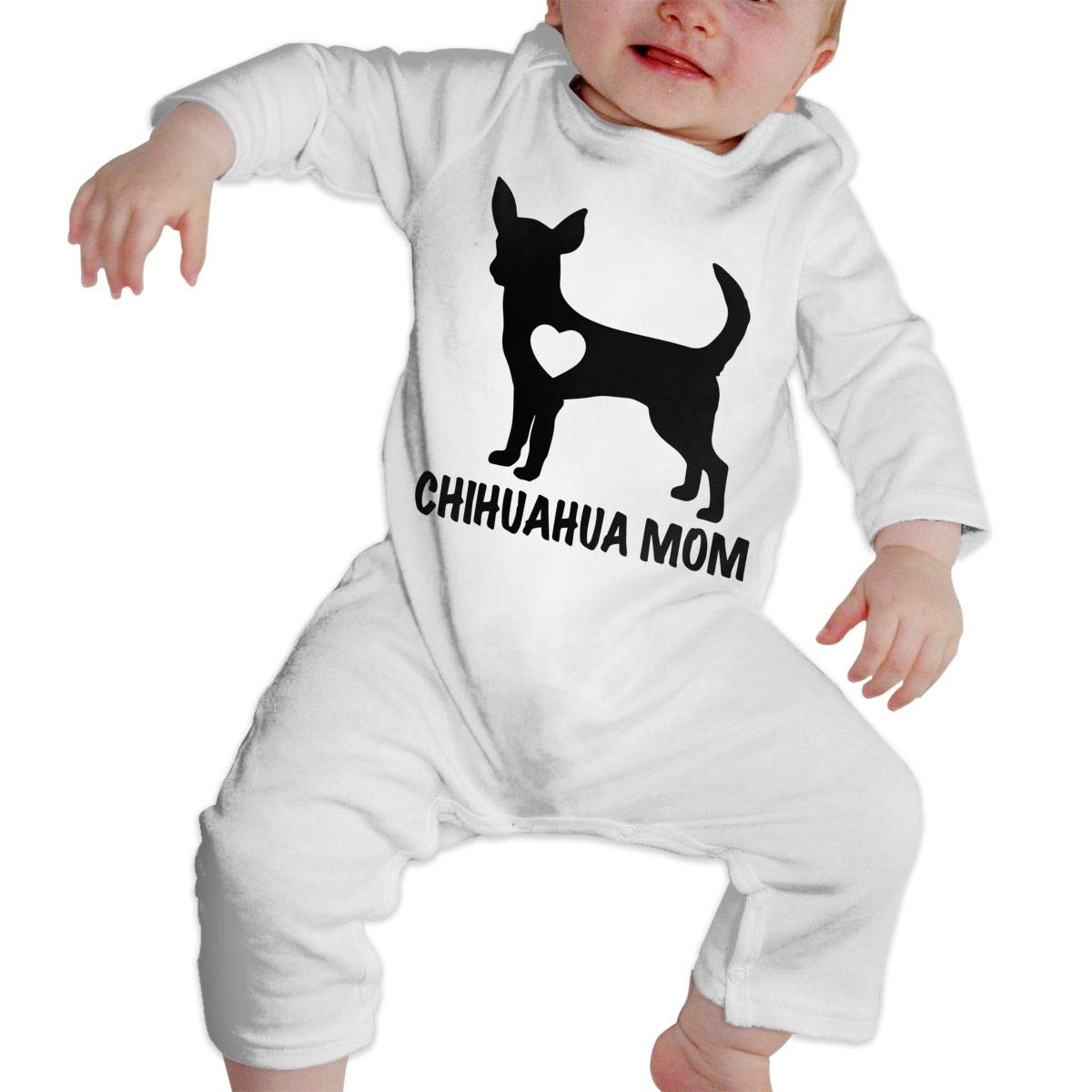 UGFGF-S3 Chihuahua Mom Baby Boy Girl Long Sleeve Romper Jumpsuit Coverall