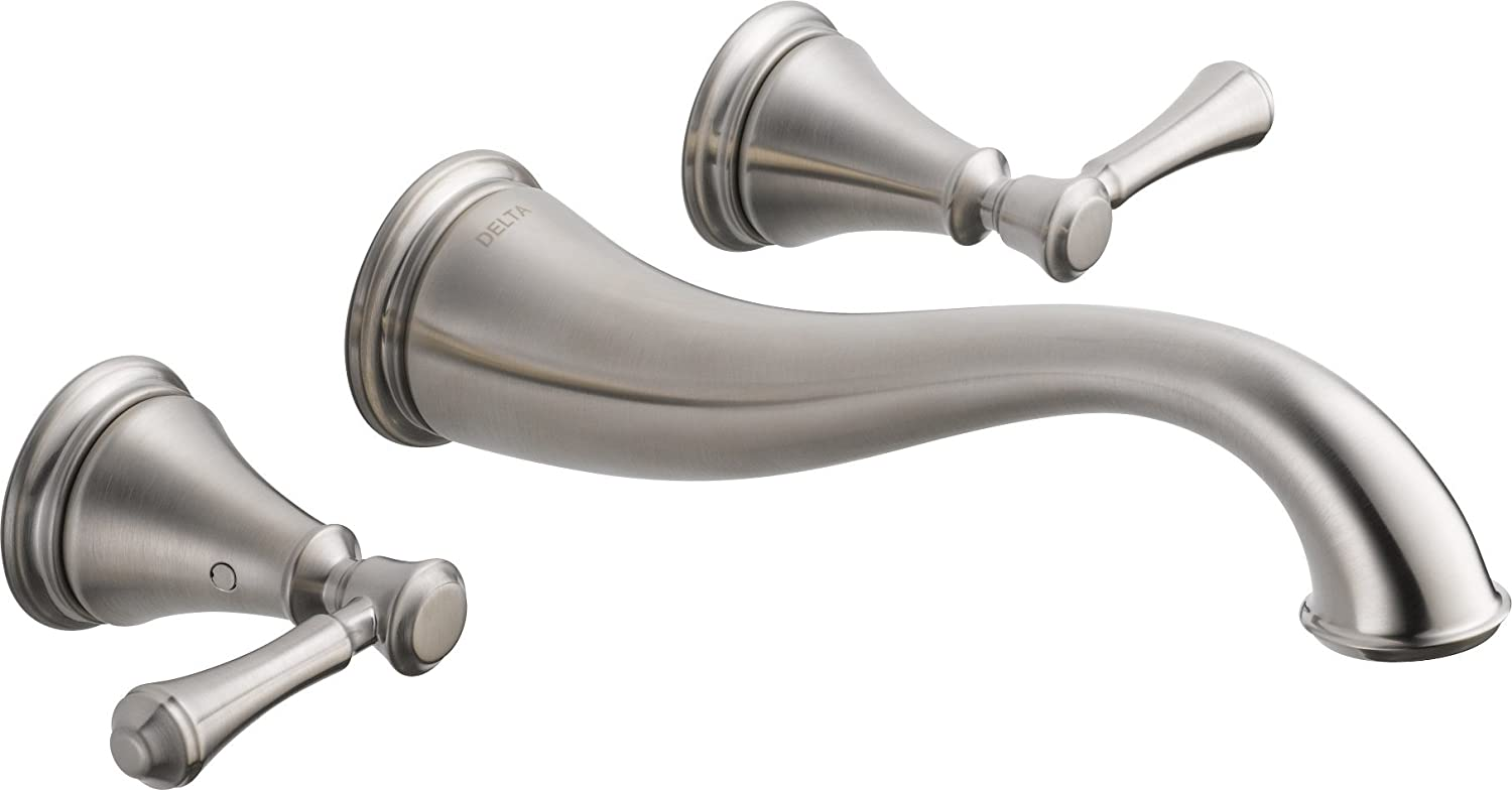 Exceptionnel Delta Faucet T3597LF WL Cassidy Two Handle Wall Mount Bathroom Faucet Trim,  Chrome     Amazon.com