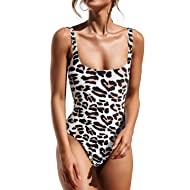 PRETTYGARDEN Women's One Piece Tummy Control U Neck Backness Swimsuits Bathing Suit Swimwear Beachwear