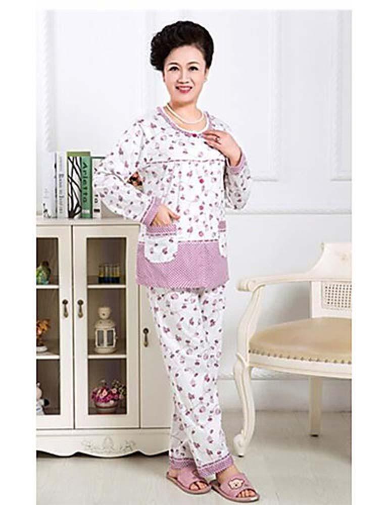 WWQY Women's Cotton Others Pajama , purple , xl