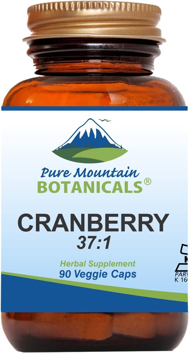 High Potency Cranberry Pills 37 1 Cranberry Concentrate Extract – 90 Veggie Kosher Capsules Now with 400mg