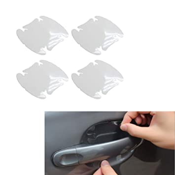 4 Pcs Car Auto Door Handle Cup Scratch Guards Protector Film AD