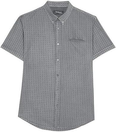Desigual Scott Ceniza - Camisa 18smcw49: Amazon.es: Ropa y accesorios