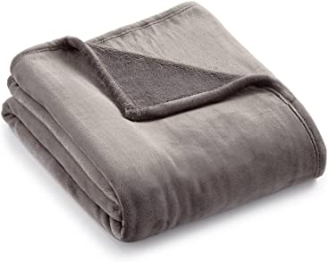 Charter Club Plush Throw Blanket (Slate Grey)