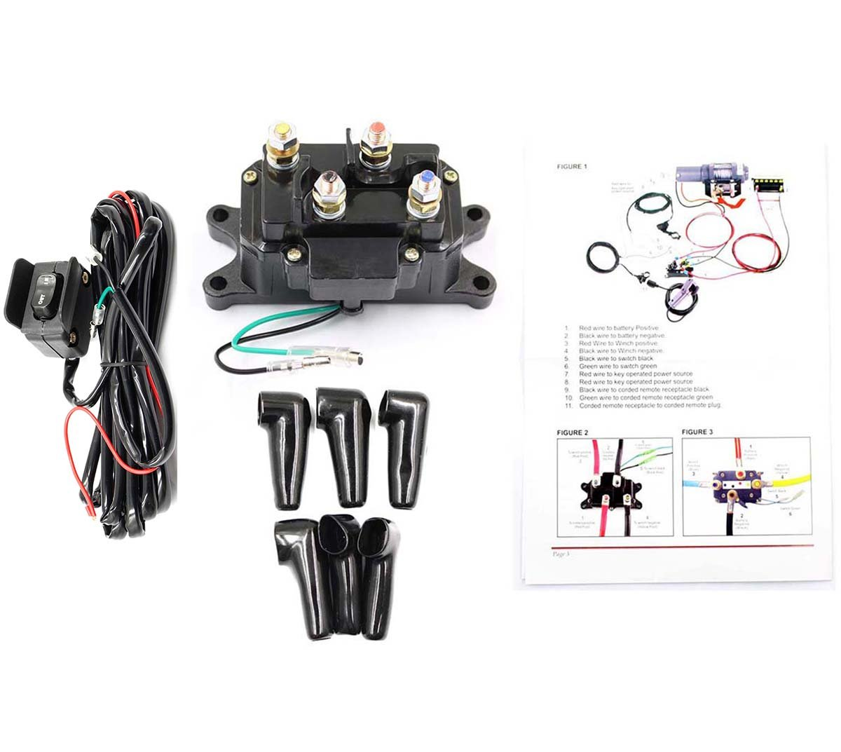 Best Rated In Towing Winch Switches Helpful Customer Reviews Wirer Atv Motor Wiring Diagram 2 Goodeal 12v Solenoid Relay Contactor With Rocker Thumb Switch For Utv Product Image