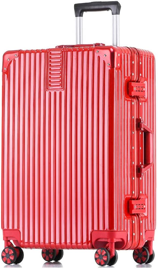 stylish small fresh and bright aluminum frame caster student large capacity suitcase 5 colors comfortable handle MING REN Luggage Sets Trolley case 2 sizes availa ABS//PC built-in password lock