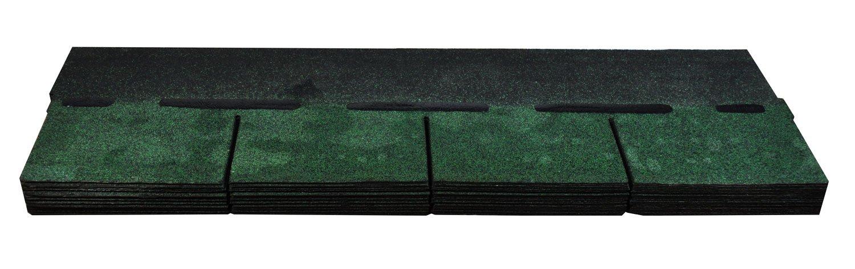 Bitumenschindeln Dachschindeln Rechteck Schindel Dachpappe Bitumen grün 3 m²