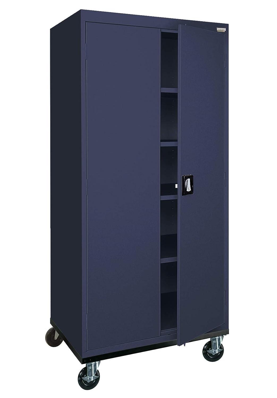 Sandusky Lee TA4R362472-A6 Transport Series Mobile Storage Cabinet, Navy Blue
