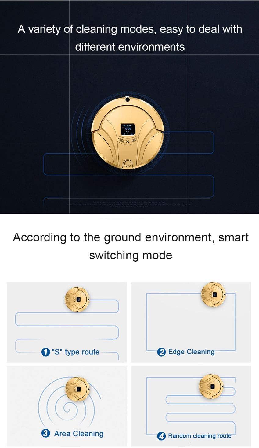 Smart Robot Aspirateur Robot Aspirateur Robot Pour Home Wifi Auto Cleaner Rechargeable Aspirateur Robot Aspirateur Humide À Sec,Noir Gold