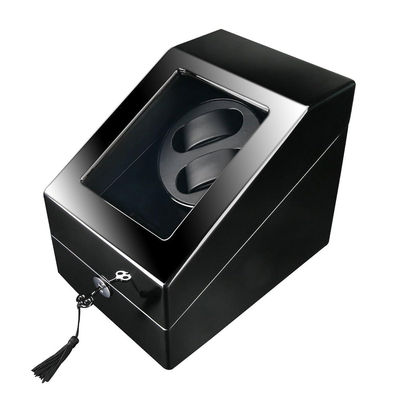 firway Automatische Holz Uhrenbeweger Dual 2 + 3 Uhren Display Box mit Schublade