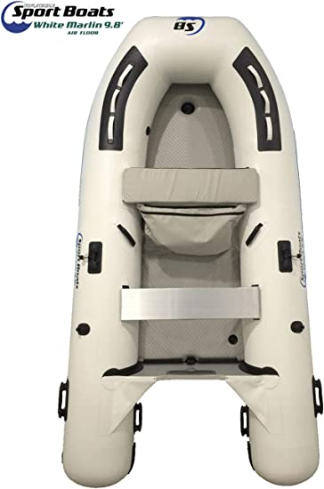 Amazon.com: Barco deportivo hinchable blanco Marlin de 9,8 ...