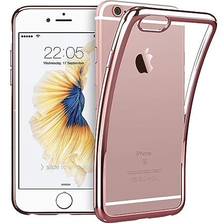 ESR Klare Hülle kompatibel mit iPhone 6 / iPhone 6s Hülle - Dünne durchsichtige TPU Handyhülle mit beschichtetem Farbrahmen f