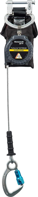 MFLEC2-12//9FT Miller TurboLite Edge EXTREME Sharp Edge 9-Foot Twin Personal Fall Limiter with Aluminum Locking Rebar Hooks