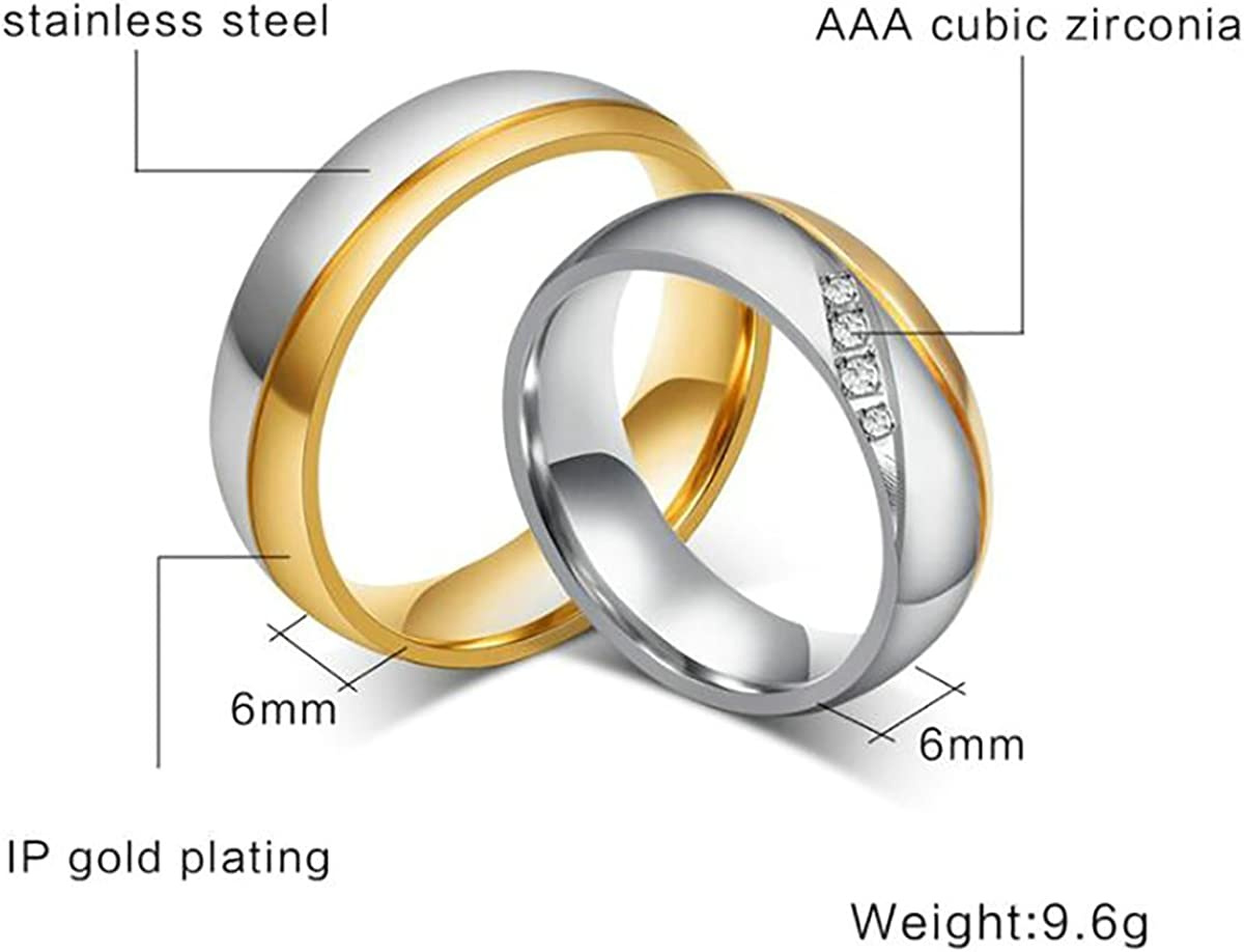 Tianyi Stainless Steel Two Tone Black IP Forever Love Cz Wedding Band Ring