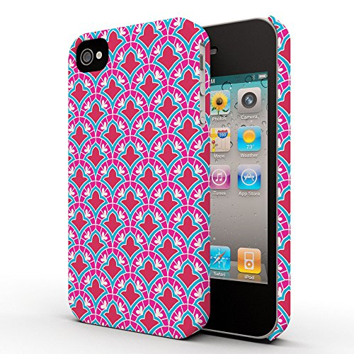 Koveru Back Cover Case for Apple iPhone 4/4S - Pink Pattern