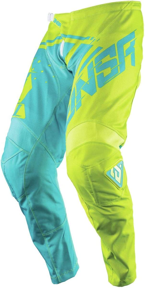 Acid//Cyan Size 36 Answer Racing A18 Syncron Air Mens Off-Road Motorcycle Pants