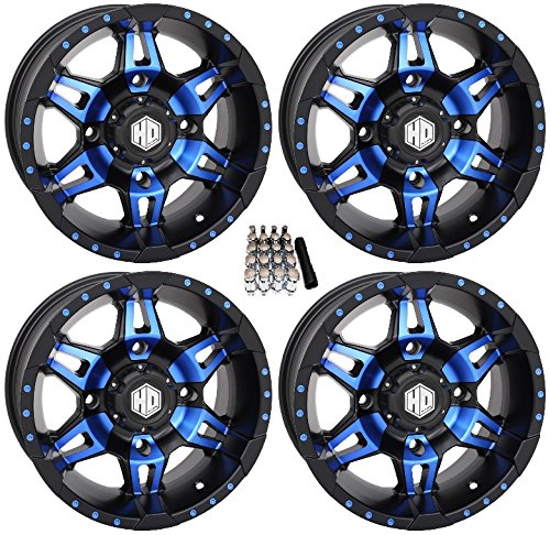 STI HD7 UTV Wheels/Rims Blue/Black 14″ Polaris RZR 1000 XP / Ranger XP 900/1000