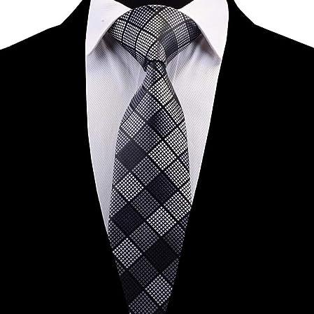 QEHWS Corbata Hombre Tie Jacquard Tejido Paisley A Cuadros, 14 ...
