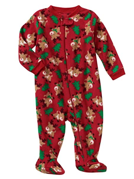 Holiday Catalog Infant Boys Christmas Tree Reindeer Fleece Blanket Sleeper  Sleep   Play NB 3f9b6e490