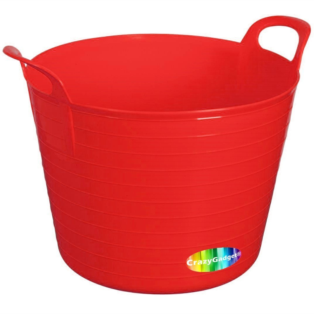 YELLOW 42L 42 Litre Large Flexi Tub Garden Flexible Colour Rubber